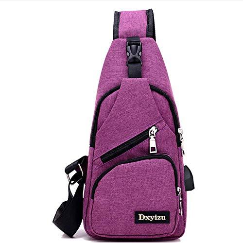 HFALChest Bag Herren Messenger Bag Oxford Tuch umhängetasche Brusttasche Casual Bag Rucksack herrentasche -