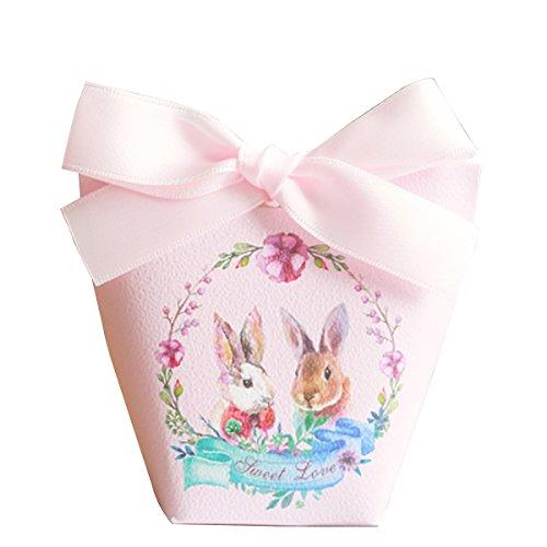 Baby-Dusche Dekorationen Hochzeitsfestbevorzugung Boxen personalisierten Pralinenschachtel 20 Stück (Bonbons oder Pralinen nicht enthalten) ()