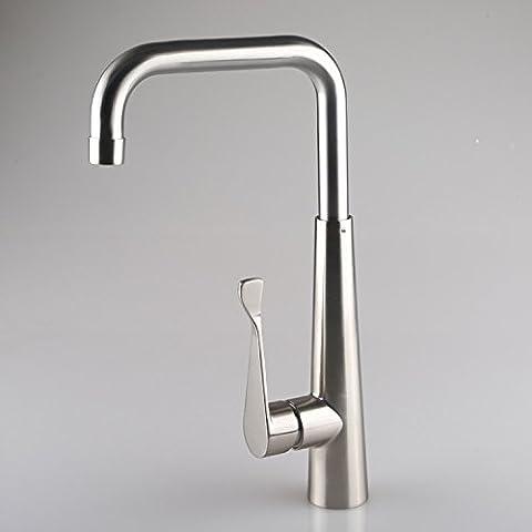 JSGN-Alta seta pura insalata di rucola verdure basin rubinetto utility classic kitchen sink fessura di taglio di lavare le mani miscelatore spazzolato