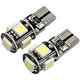 INTERNET 10 X Canbus libre de errores blanco T10 5-SMD 5050 W5W 194 16 Bombilla LED interior