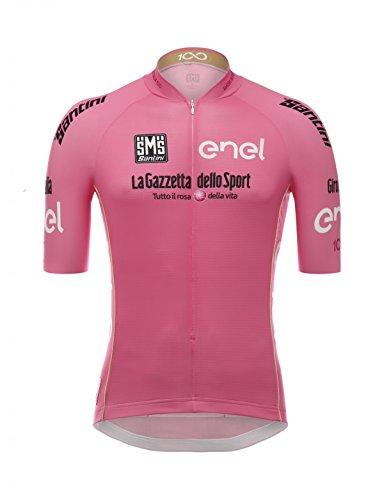 Santini - Giro d'Italia, camiseta de manga corta para hombre, Hombre, Giro d'Italia, Rosa, XXL
