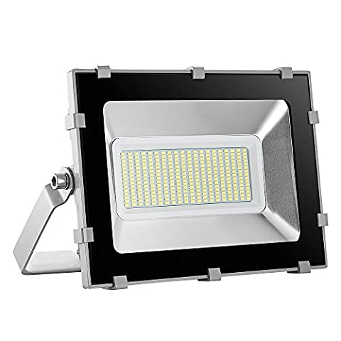 Viugreum 150W LED Outdoor Floodlight, Waterproof IP65, 18000LM, Daylight White(6000-6600K),