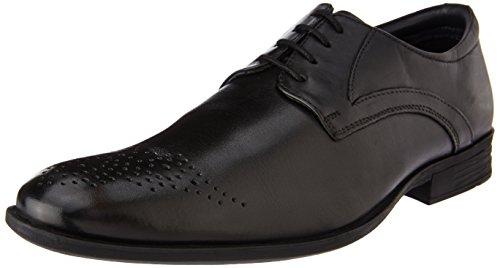 Hush Puppies Men's London Derby Black Leather Formal Shoes - 8 UK/India (42 EU)(8.5 US)(8246914)