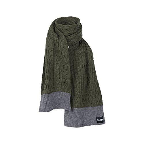 jeep-man-tricot-scarf-echarpe-j5w-dark-green-dark-gmel-taille-unique