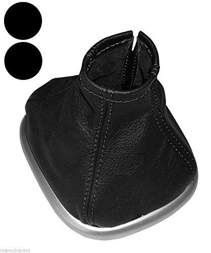 Aerzetix - Schaltsack Schalthebelmanschetten Schalthebelmanschette Schaltbetätigungs 100% echtes Leder schwarze Nähte