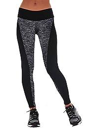 Fenebort Yoga New Double-Sided Black and Gray Stitching Hip Elastic XL Leggings Yoga Pants