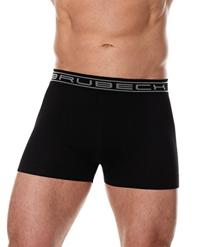 BRUBECK® 3x Set BX00501A COMFORT COTTON Herren | Air Jet Gewebe | SmoothSkin | Boxer Shorts | Slips | Nahtlos | Perfect-Fit | Unterwäsche, Größe:L;Farbe:black (Nahtlose Unterwäsche Herren)