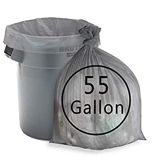 Anbers 55 Gallon Lawn and Leaf Trash Bags, Drum Liners, 70 Counts
