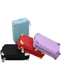 Generic Silicon Multicolour Suitcase Shape Coin Pouch, 12x8x3cm