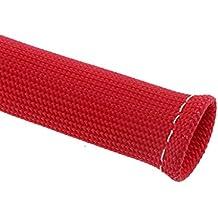 8pcs Cubierta Protector de Manga Escudo Térmico Cable de Bujía Botas Motor Rojo