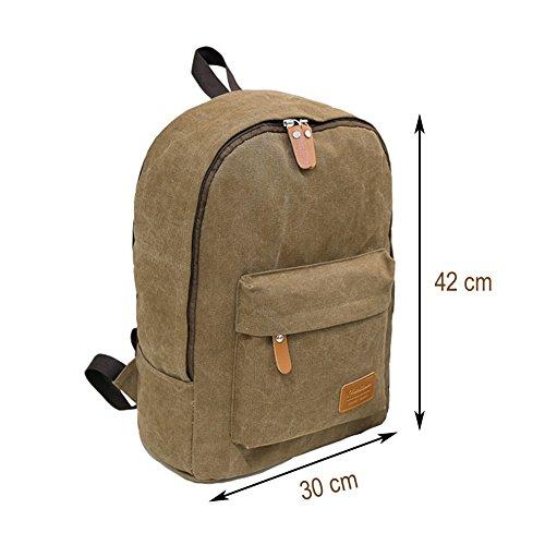 Imagen de  de lona, big volume bolsa de tela hombreras  bolsa para portátil bolsa escolar  al aire libre de ocio casual alternativa