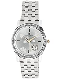Escort Analog Silver Dial Women's Watch- 2486 SM