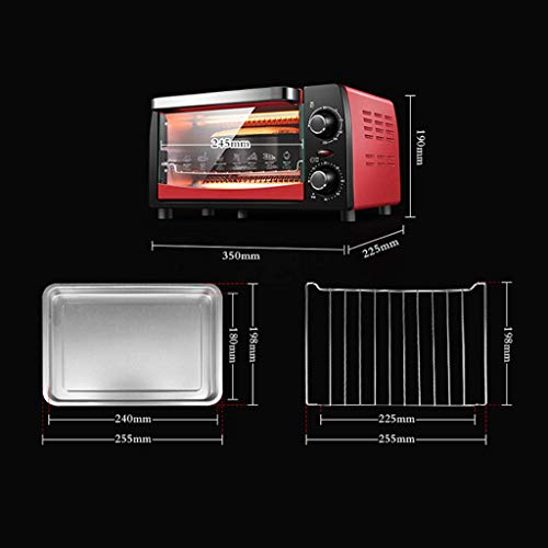 GBX Horno multifuncional doméstico mini-horno 12L con ajuste de temperatura 0-230 ℃...