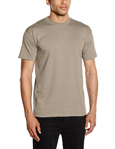 fruit-of-the-loom-heavy-cotton-tee-shirt-t-shirt-da-uomo-beige-khaki-m
