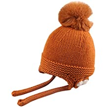 3a6b392cdba2f Mitlfuny Niños Niñas Sombreros de Punto Gruesa para Bebé Invierno Caliente  Gorro con Orejeras de Escorpion