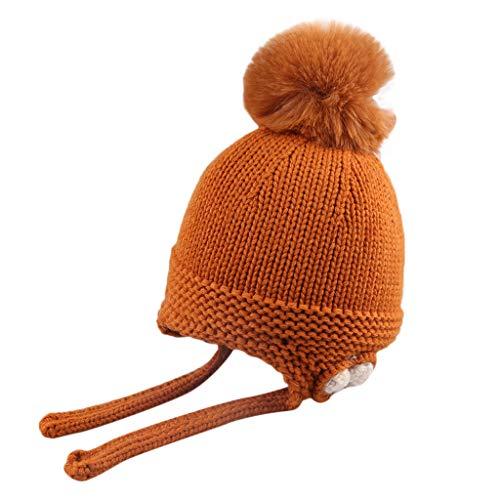 Mitlfuny Niños Niñas Sombreros de Punto Gruesa para Bebé Invierno Caliente  Gorro. 3de0b2a8b5e