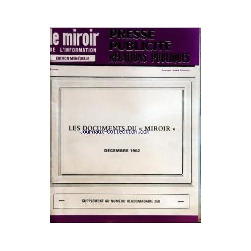 MIROIR DE L'INFORMATION DE LA PUBLICITE ET DES RELATIONS PUBLIQUES (LE) du 01/12/1962
