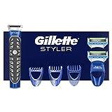 Gillette Styler Regolabarba, 2 Lamette e Rifinitore per Ottenere Qualsiasi Stile con un Unico Strumento di Precisione