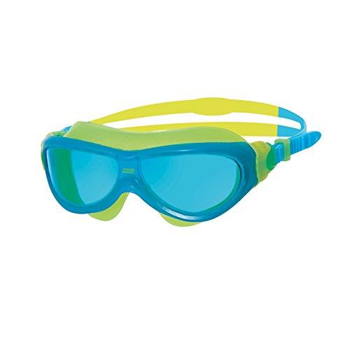 Zoggs Phantom Junior Mask Gafas de natación, Infantil, Azul, Amarillo, Tinte, 6-14 años
