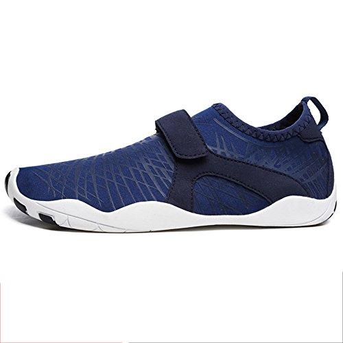 Schwimmschuhe für Herren NAN Männer Breathable Segeln Beach Water Shoes Schnell trocknende Wassersportschuhe (Farbe : Blau, größe : EU43/UK9/CN44)