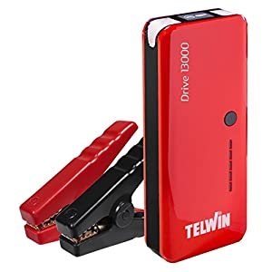 Telwin 829566 Arrancador multifuncion de litio y Power bank Rojo