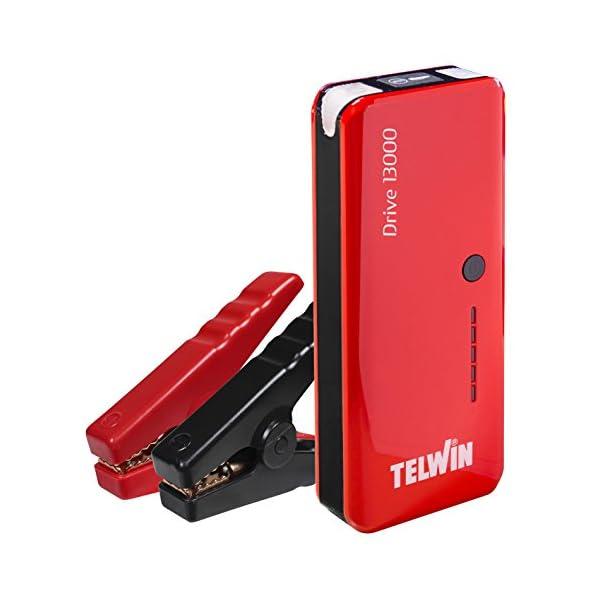 Telwin 829566 Arrancador multifuncion de litio y Power bank Rojo