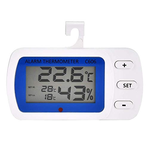 H-ONG LCD Digital Hygrometer Thermometer, Indoor Outdoor Humidity Monitor