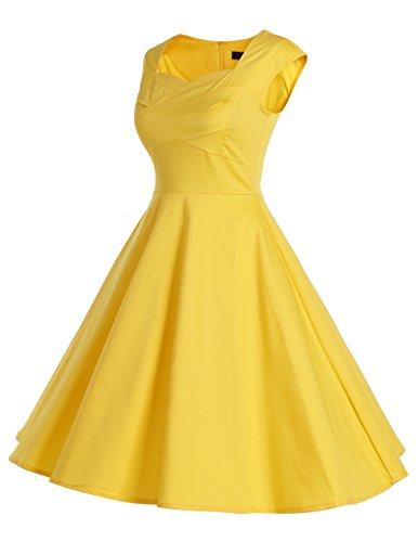 Dresstells Vintage 1950's Audrey Hepburn robe de soirée cocktail, bal style années 50, Rockabilly, Swing Vert