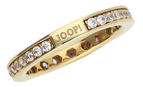 Joop! Damen-Ring 925 Silber Zirkonia weiß Rundschliff Gr. 55 (17.5) - JPRG90788B180