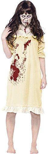 Kostüme Halloween Exorzist (Damen-zombie Besessen Demon Exorzist Halloween Kostüm Kleid Outfit 4-18 -)