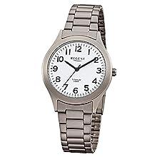 REGENT 11090287 - Orologio da polso da uomo, cinturino in acciaio inox colore argento