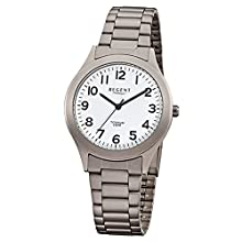 Regent 11090287 – Wristwatch Men's, Stainless Steel Silver Strap