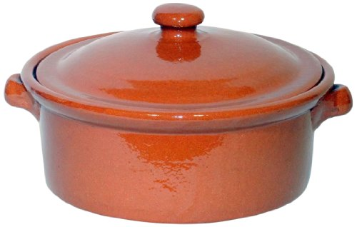Amazing Cookware Natural Terracotta 3 Litre Casserole Dish