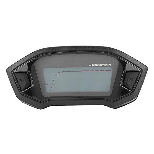 Qiilu Universal Motorcycle Digital Colorido LCD Velocímetro Cuentakilómetros Tacómetro con Sensor de...