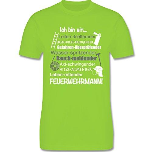 Feuerwehr - Ich bin ein ... Feuerwehrmann! - Herren Premium T-Shirt Hellgrün