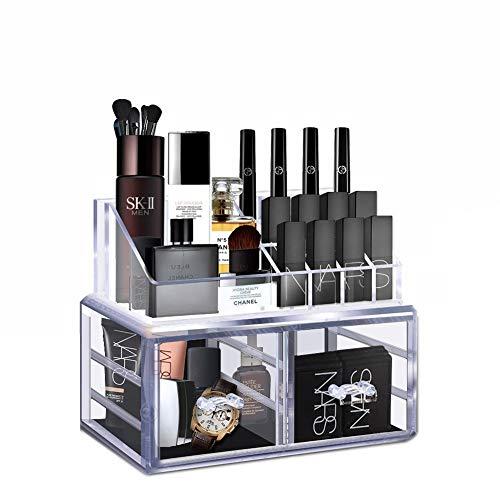 Acryl Make Up Organizer Lippenstift, Nagellack, Pinsel Kosmetik Organizer Lippenstift Rack Kosmetik Aufbewahrung (Acryl Schrank Organizer)