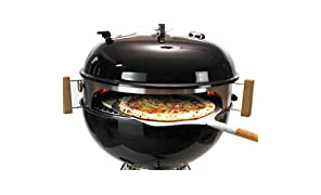 Moesta-BBQ Smokin' PizzaRing - Komplettpaket für Pizza! Backe die perfekte Pizza in deinem Kugelgrill! Erweiterbar: Rotisserie, Churrasco Set, Pan