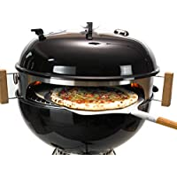 Moesta-BBQ Smokin' PizzaRing - Komplettpaket für Pizza! Backe die perfekte Pizza in deinem Kugelgrill! Erweiterbar: Rotisserie, Churrasco Set, Pan