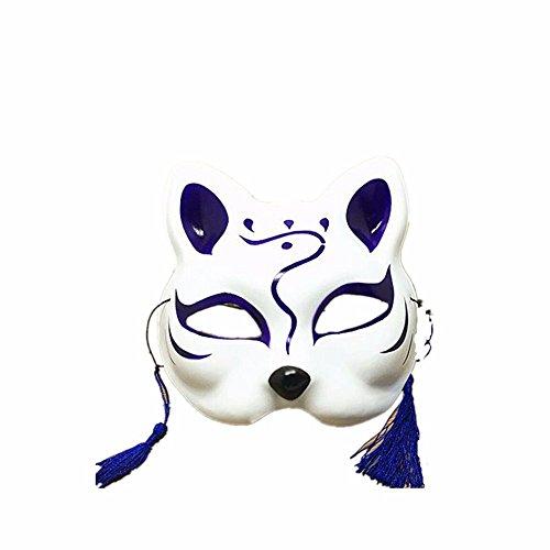 ParttYMask Maskerade,Handbemalt Half Face Katzenmaske Cosplay Ball Maske - Yugioh Halloween-kostüm