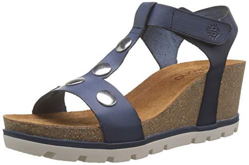 YOKONO Mavile 002 Vaquetilla, Sandalias con Punta Abierta para Mujer, Azul Marino 006, 38 EU