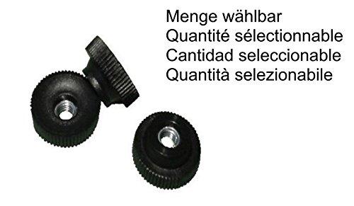 Rändelmutter M6 Kunststoff, Stahlgewinde verzinkt, Rändelmuttern MENGE wählbar, Menge:10 STÜCK