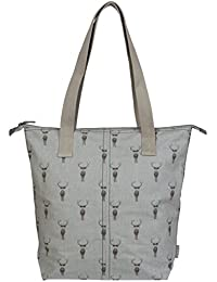 Sophie Allport Big Bag–Highland diseño de ciervo