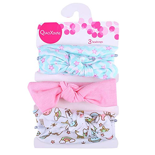 UFODB Damen Haarband Set Kaninchen Ohr Bow Hairband Kopfband Haarspange Haarreifen Für Baby Kinder Mädchen 3 Stück (Diy Baby-puppe Halloween-kostüme)
