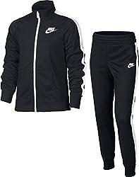 Nike Kinder Sportswear Track Suit Tricot Trainingsanzug, Blackwhite, S