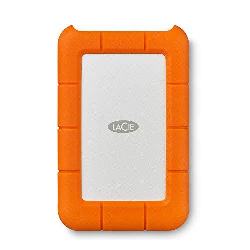 LaCie STFR4000800 Rugged USB-C 4 TB externe robuste Festplatte (6,35 cm (2,5 Zoll) Staub-, Stoss- und Spritzwasser- geschützt)