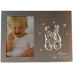 Curia grabador Portafoto Infantil para Bautizo Personalizado. Pack 20 Unidades