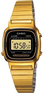 Casio Ladies Digital Watch LA-670WGA In Black Gold (B0036C4GN6) | Amazon price tracker / tracking, Amazon price history charts, Amazon price watches, Amazon price drop alerts