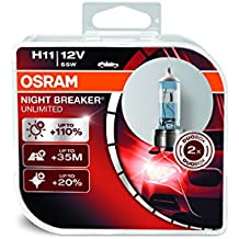 Osram ONBU11-DUO_PL Night Breaker Unlimited Bombilla H11 Duo Box