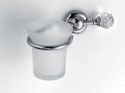 Set Da Bagno Moderno : Set arredo bagno moderno in ottone cromato e cristallo pz