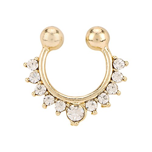 Nath Bridal Nose Ring with Chain Nose Rings For WeddingALNO0219WH  available at amazon for Rs.199